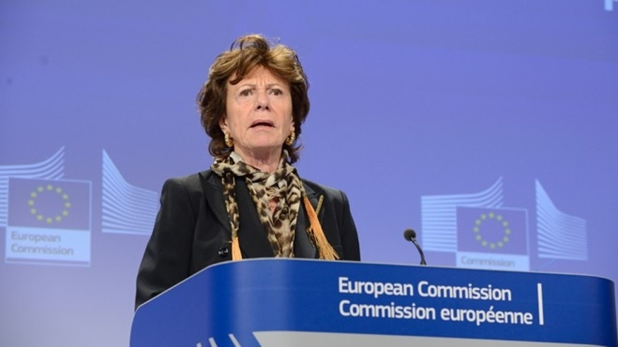 Feb. 12, 2014: Neelie Kroes, vice-president of digital agenda for the European Commission, speaks at a press conference on Internet Governance.