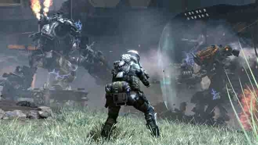 A scene from &quot&#x3b;Titanfall,&quot&#x3b; a promising new game for the Xbox and Windows PCs.