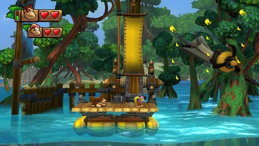 A scene from the new Wii U game Donkey Kong Country: Tropical Freeze.&quot&#x3b;