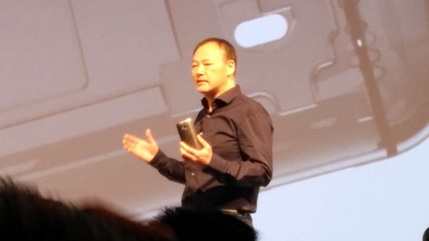 HTC CEO Peter Chou at the Tuesday morning event in New York City's landmark Moynihan Station.