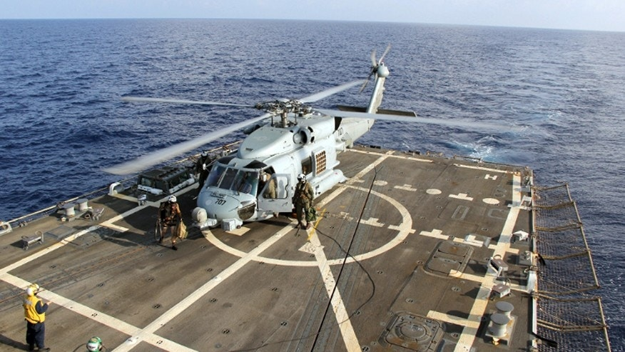 A US navy MH-60R.