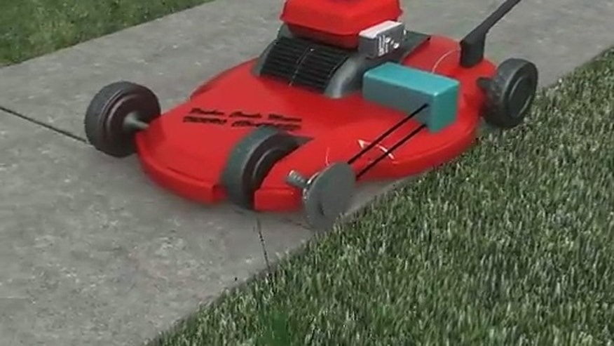 "One of the machine's inventors has written a patent application, which is currently awaiting government approval. He's also reached out to Philadelphia Mayor Michael Nutter, urging him to house the future Packer-Combo-Mower in a vacant lot in Northeast Philadelphia to ""bring real jobs"" back to the struggling city. (YouTube)"