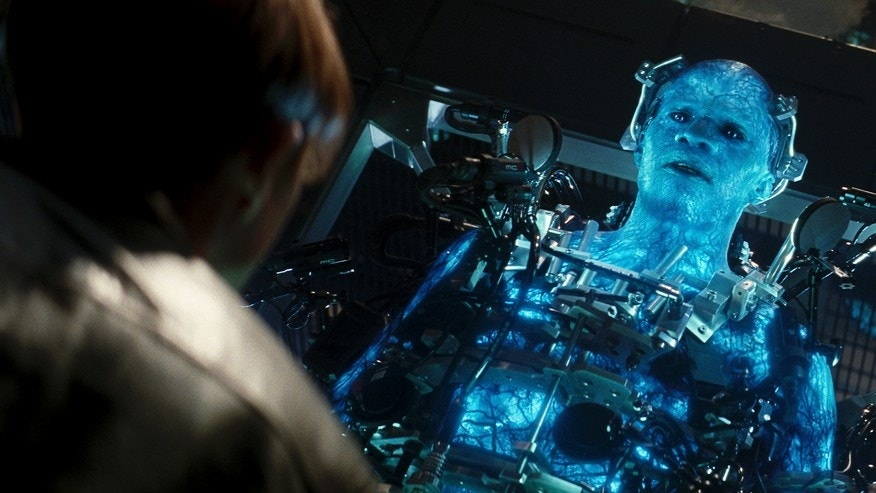 "Jamie Foxx as Electro in Columbia Pictures' ""The Amazing Spider-Man."""