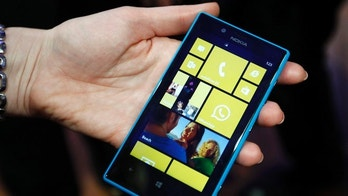 Feb. 25, 2013: The Nokia Lumia 520 is pictured during the Mobile World Congress in Barcelona.