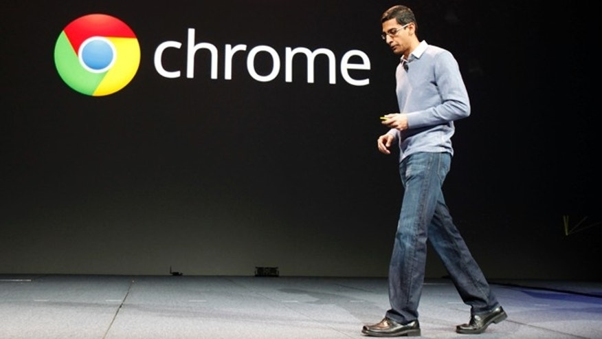 June 28, 2012: Sundar Pichai, senior vice president of Google Chrome, speaks during Google I/O Conference at Moscone Center in San Francisco, Calif.