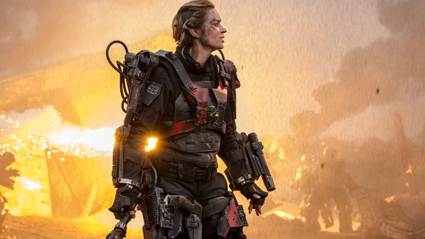 "This photo released by Warner Bros. Pictures shows Emily Blunt as Rita in Warner Bros. Pictures' and Village Roadshow Pictures' sci-fi thriller ""Edge of Tomorrow."""