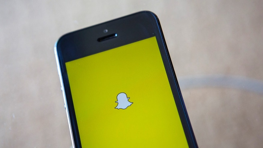 A portrait of the Snapchat logo.