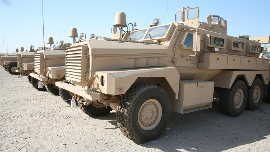 Mine Resistant Ambush Protected (MRAP) vehicles.