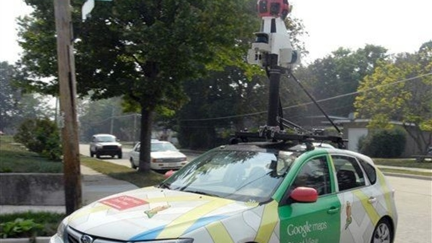 File photo of a Google car in Racine, Wis.