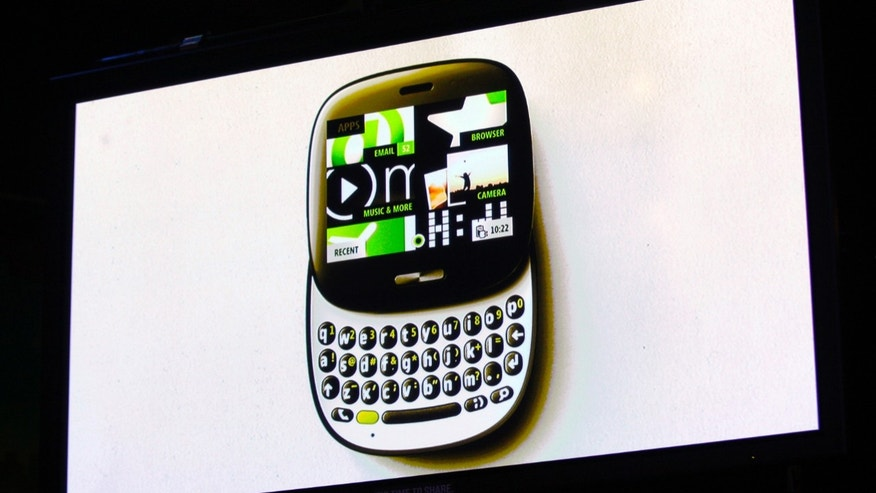 The image of the Kin One smartphone is projected on a screen at a Microsoft news conference in San Francisco, California April 12, 2010.