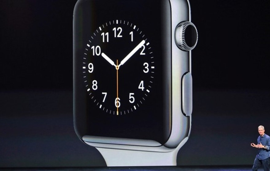 Sept. 9, 2014: Apple CEO Tim Cook introduces the new Apple Watch in Cupertino, Calif.
