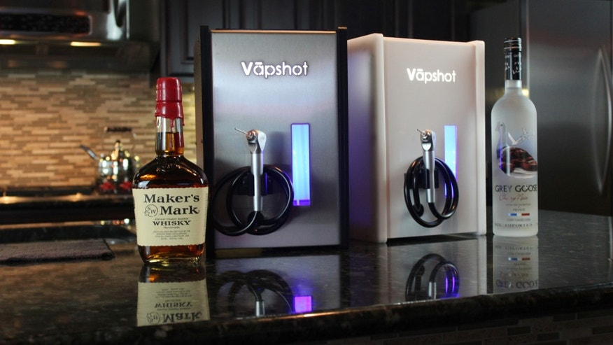 Each Vapshot consists of alcohol vapors only contained in a 1-liter serving bottle.
