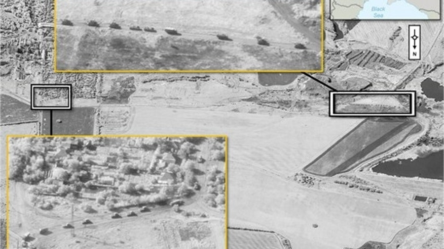 Satellite imagery released by NATO on Aug. 28, 2014.