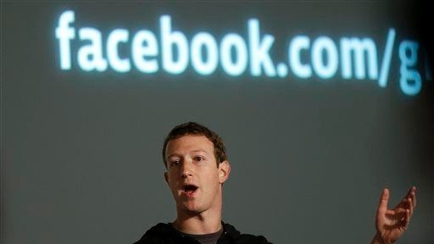 Facebook CEO Mark Zuckerberg speaks at Facebook headquarters.