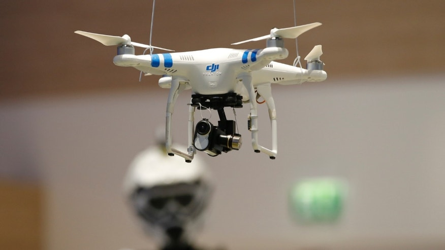 File photo. A drone is pictured at the IFA consumer technology fair in Berlin, September 5, 2014.