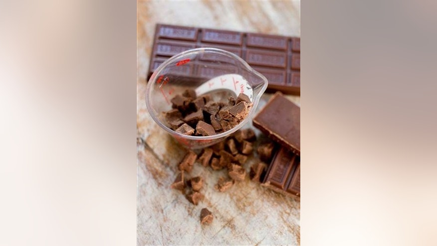 This Nov. 3, 2014 photo shows chocolate for hot cocoa in Concord, N.H.