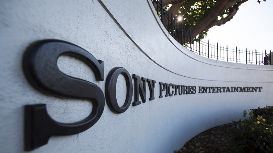A logo is pictured outside Sony Pictures Studios in Culver City, California December 19, 2014.