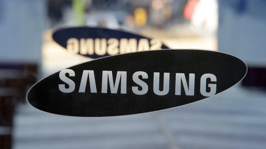 Jan. 8, 2015: A logo of Samsung Electronics is seen at its showroom in Seoul, South Korea.
