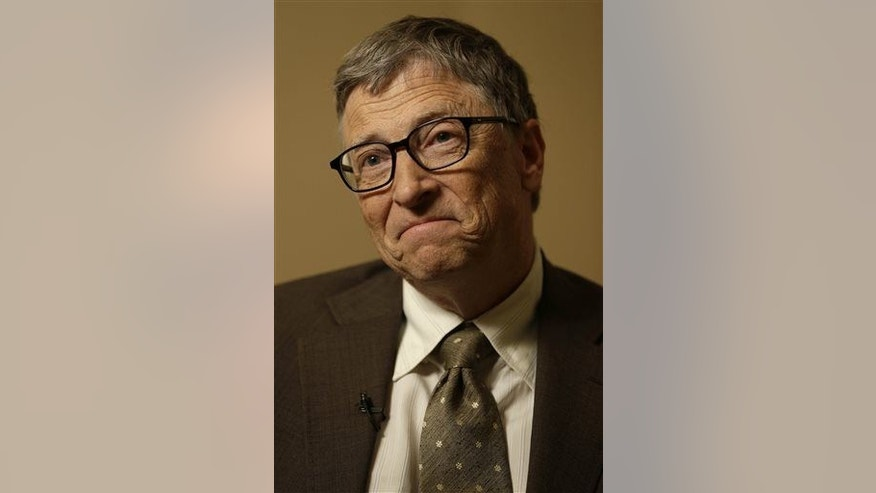 Bill Gates listens during an interview in New York, Wednesday, Jan. 21, 2015.