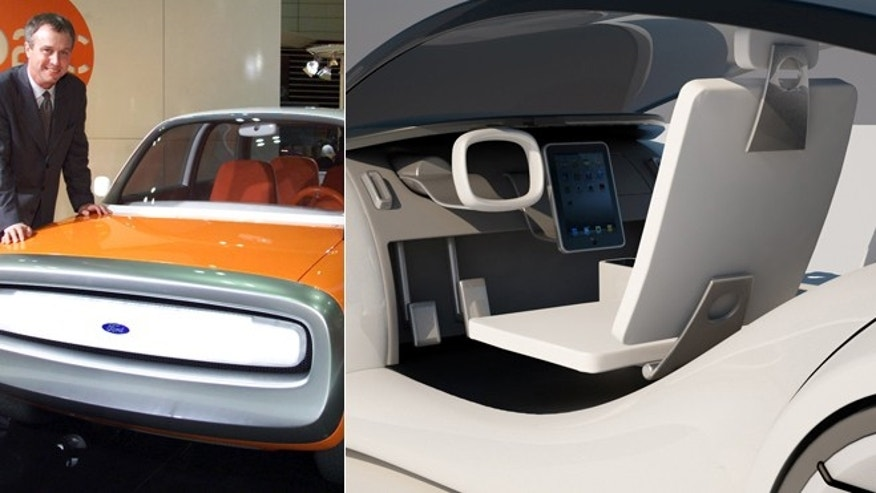 File photo of Ford 021C concept car (Reuters) and artist's Apple car impression.
