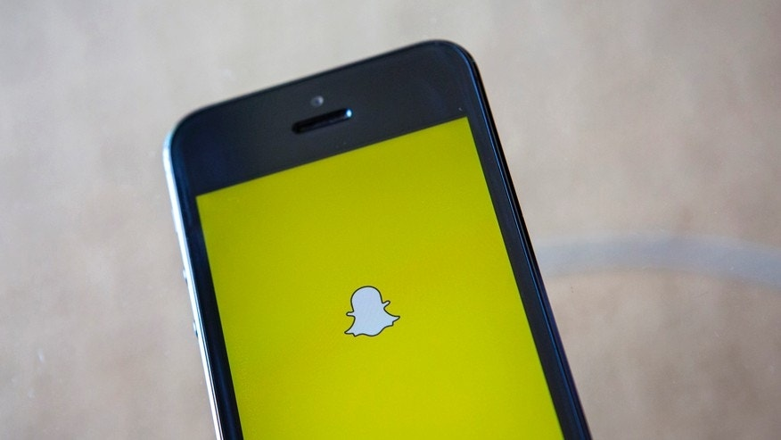 A portrait of the Snapchat logo in Ventura, California December 21, 2013.