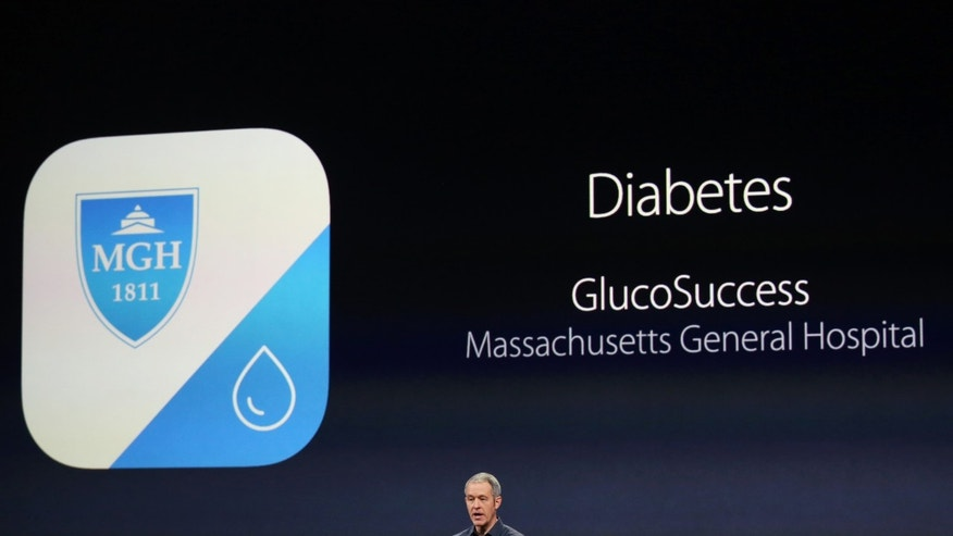 Apple's senior vice president of Operations Jeff Williams speaks about Apple's medical research kit during an Apple event in San Francisco, California March 9, 2015.