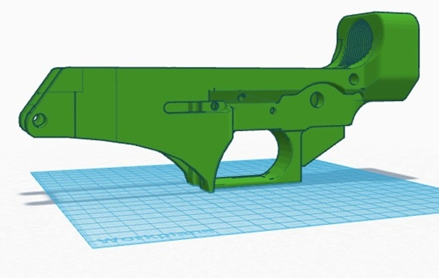 Schematics for the lower receiver. (printedfirearm.com)