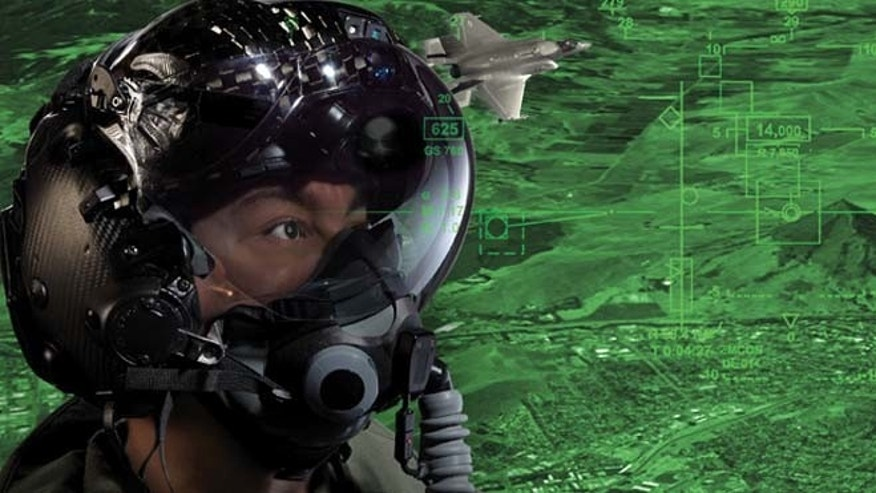 The visor does more than shield the pilot's eyes; it can inform the pilot about the health of the jet, including remaining fuel and altitude. These helmets will provide pilots with night-vision.