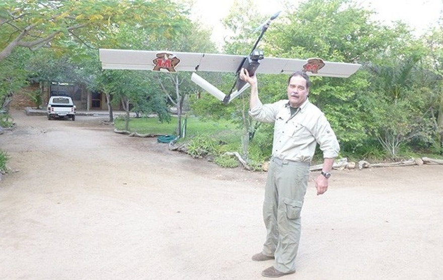 University of Maryland's Tom Snitch seen here launching one of the drones used during testing of the Air Shepherd program. (AirShepherd.org)