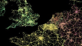 The traffic probes Here captures in Northern Europe.