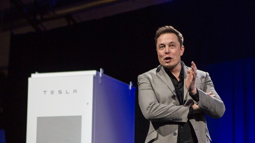 File photo - Elon Musk, CEO of Tesla Motors, unveils the company's newest product, Powerwall, in Hawthorne, Calif., Thursday, April. 30, 2015.