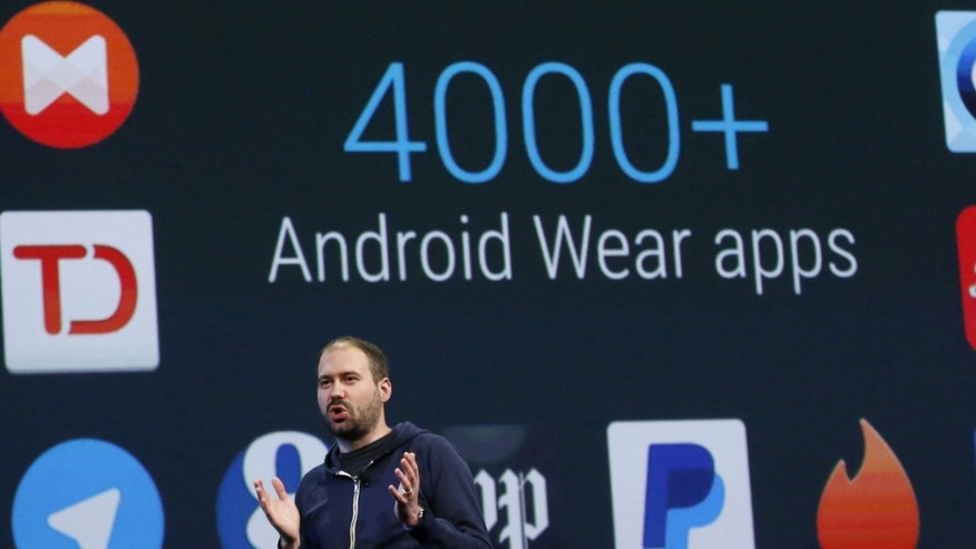 File photo. David Singleton, director of Android Wear, speaks during the Google I/O developers conference in San Francisco, California May 28, 2015.