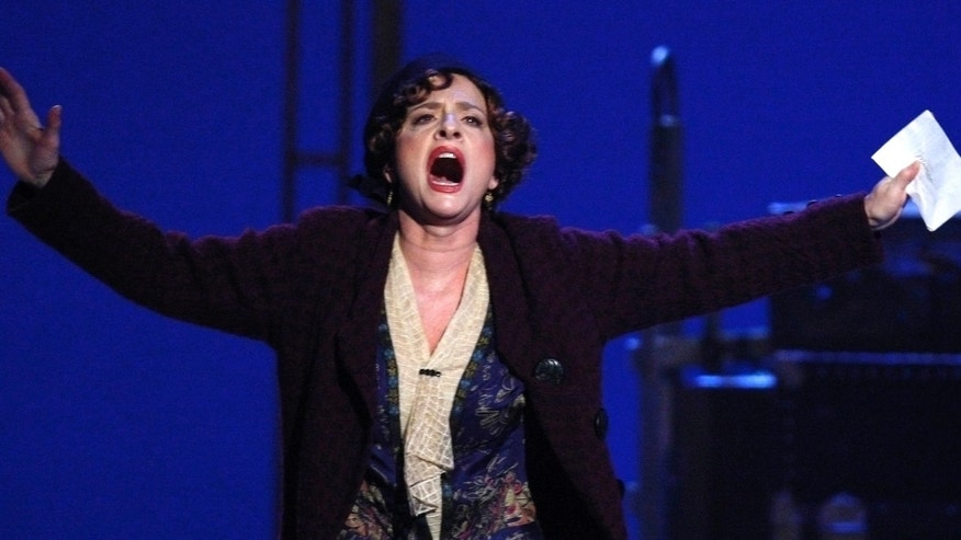 File photo. Actress Patti LuPone performs a scene from 'Gypsy' at the 62nd Annual Tony Awards in New York, June 15, 2008.