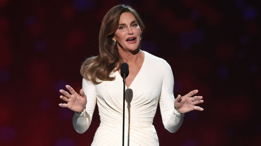 Caitlyn Jenner accepts the Arthur Ashe Award at the 2015 ESPY Awards.