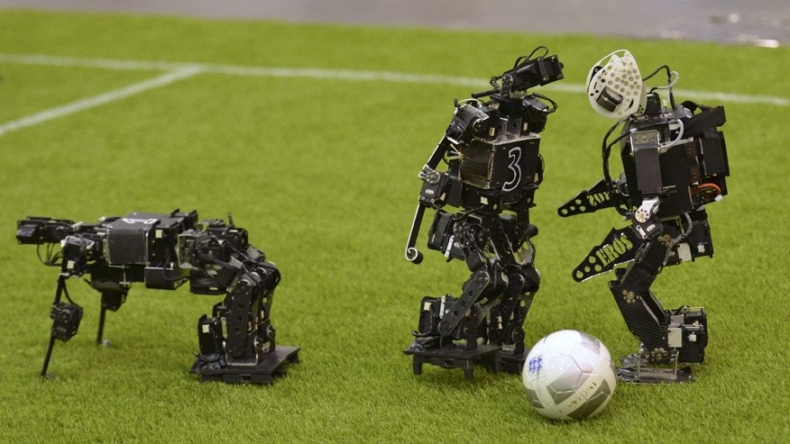 File photo - Humanoid robots compete during the 2015 Robocup July 22, 2015.