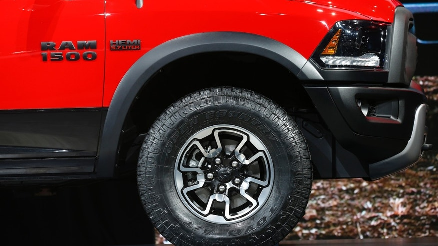 File photo. Front quarter view of the Ram Rebel pickup truck as it is displayed during the second press day of the North American International Auto Show in Detroit, Michigan, January 13, 2015.