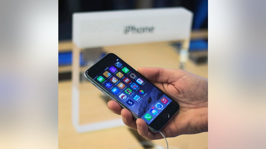 File photo -  iPhone 6 on display at the Fifth Avenue Apple store on the first day of sales in Manhattan, New York Sept. 19, 2014.