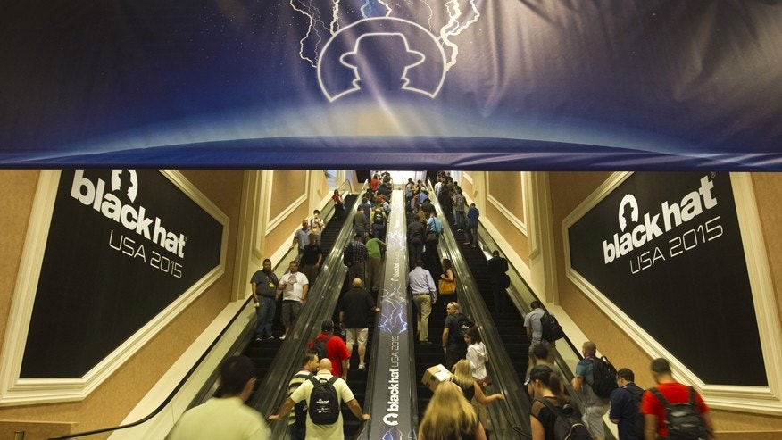 People arrive at the Black Hat USA 2015 cybersecurity conference in Las Vegas, Nevada August 5, 2015.