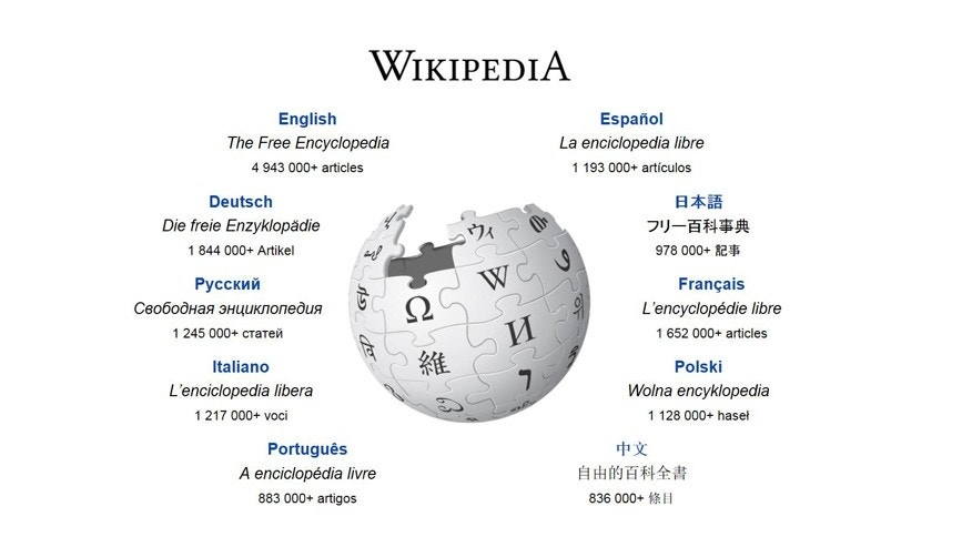 Screenshot of www.wikipedia.org