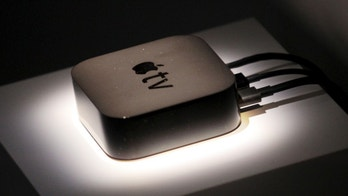 The new Apple TV is displayed during an Apple media event in San Francisco, California, September 9, 2015.