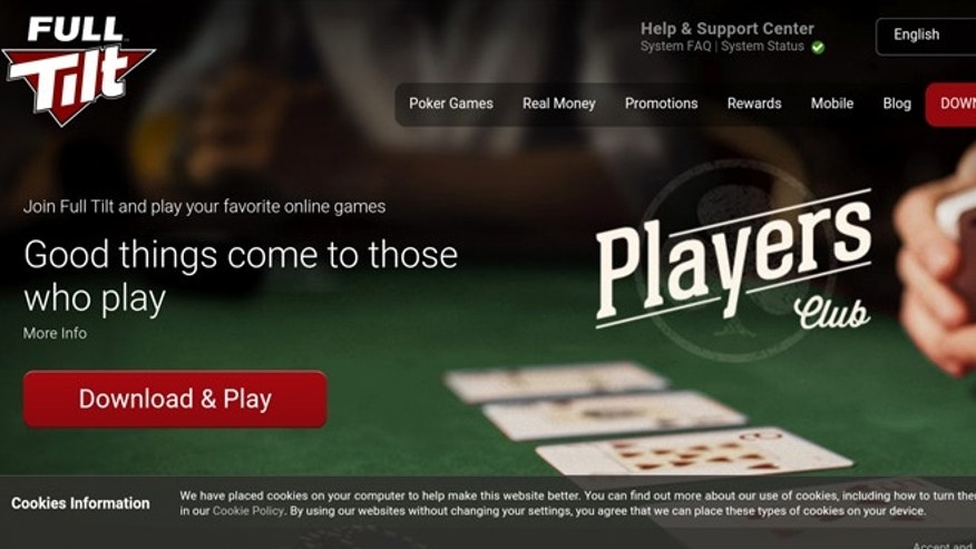 Screenshot of www.fulltilt.com