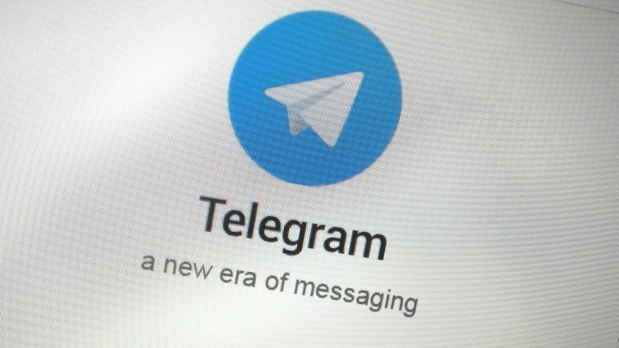 The Telegram messaging app logo is seen on a website in Singapore Nov. 19, 2015. (REUTERS/Thomas White)
