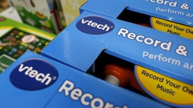 VTech's products are seen on display at a toy store in Hong Kong, China November 30, 2015. Shares of electronic toy maker VTech Holdings Ltd were suspended from trade on Monday after customer data was stolen in a cyber attack, sparking concern over the loss of information relating to children. REUTERS/Tyrone Siu - RTX1WFB0