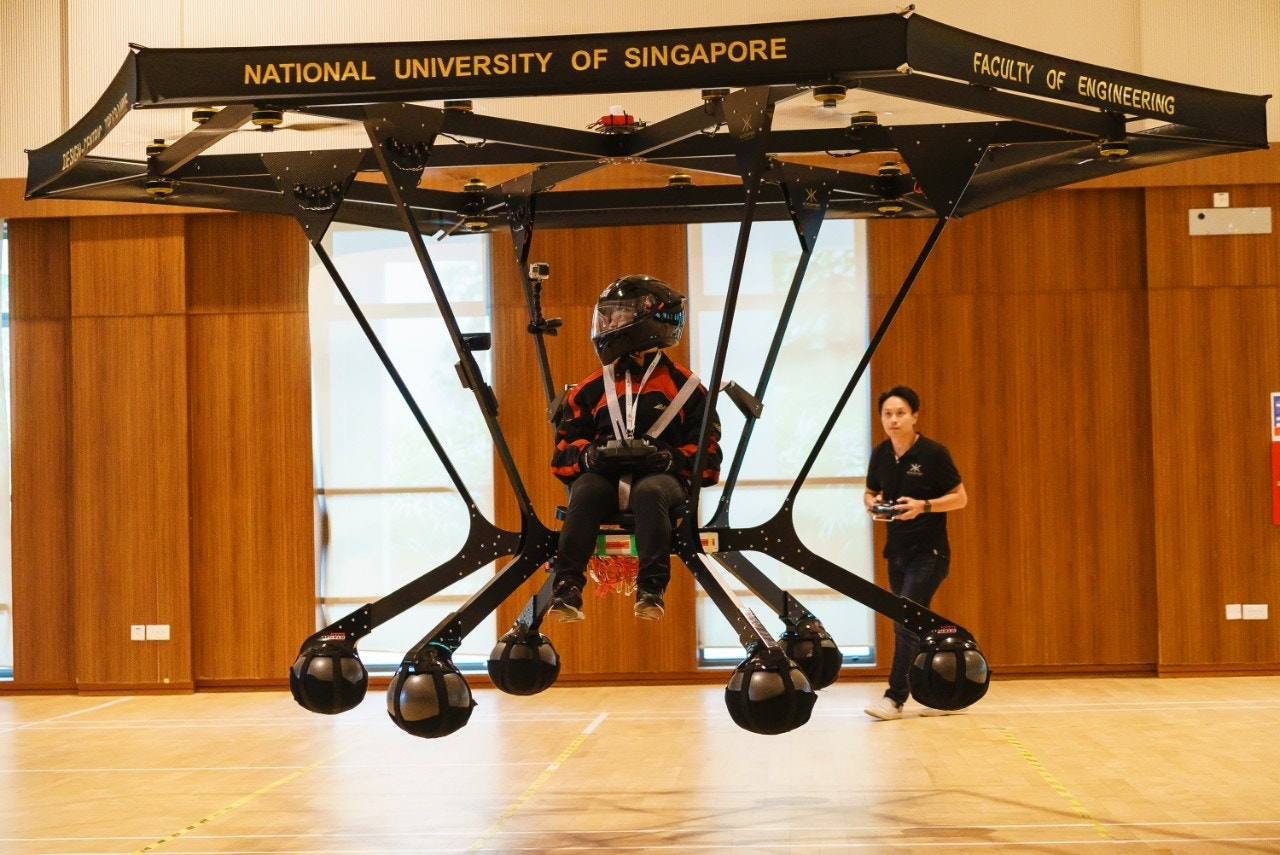 Singapore students design personal flying machine
