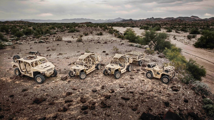 The Polaris Defense Ultralight family of vehicles. (John Linn, Adventures Studios 2014)