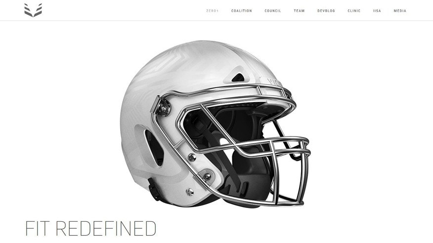 (Screenshot from vicis.co/zero1/)