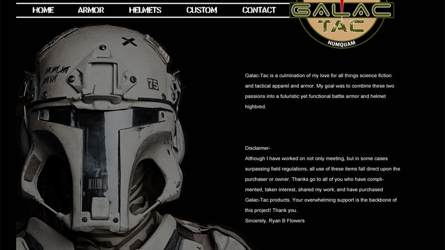 (Screen shot of Galac-Tac homepage)
