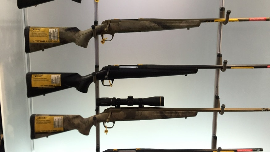 Browning X-Bolt Hells Canyon SPEED (second top) on display at SHOT Show (Allison Barrie)