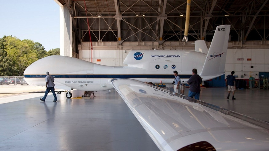 File photo - The Global Hawk is pictured at the aircraft hangar of NASA's Wallops Flight Facility in Wallops Island, Virginia on Sept. 7, 2012, released to Reuters on Sept. 26, 2012. (REUTERS/NASA/Handout)