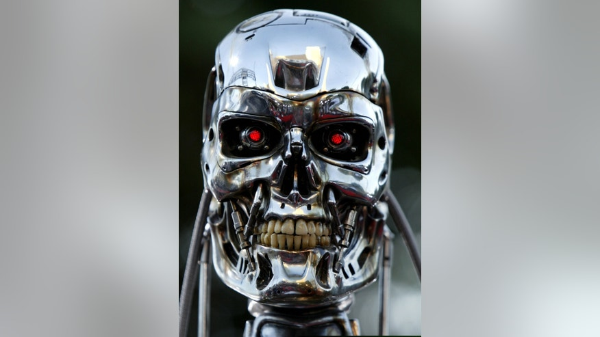 "File photo - A robot from the movie is on display for the premier of the motion picture Terminator 3 ""Rise of the Machines"" June 30, 2003 in west Los Angeles. (Mike Blake/Reuters)"